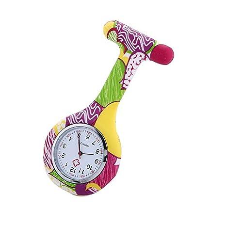 Whyyudan Misterioso y Elegante Las Enfermeras Doctor Reloj de Silicona de Color con Dibujos Relojes Reloj de Goma Fob: Amazon.es: Hogar