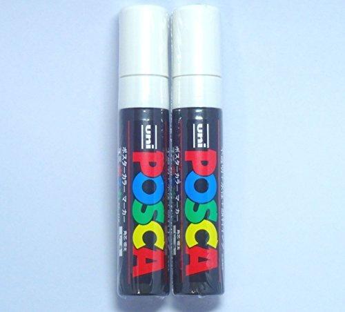 uni-posca-paint-marker-pc-17k-white-2-pens-per-packjapan-import-komainu-dou-original-package