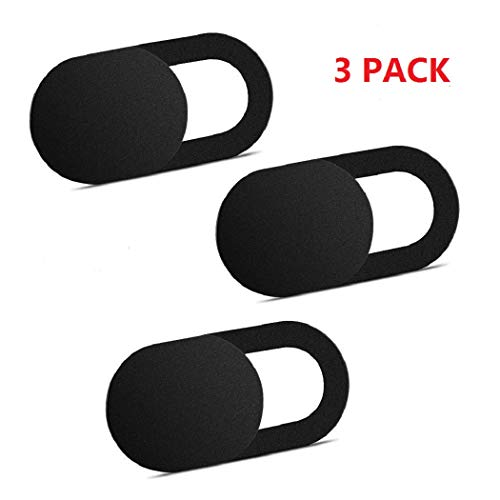 Webcam Cover, 3 Pack Ultra Thin Slide Web Camera Covers for Laptop Computer Smartphone Mac iMac MacBook, Sliding Blocker Cover Protect Your Privacy