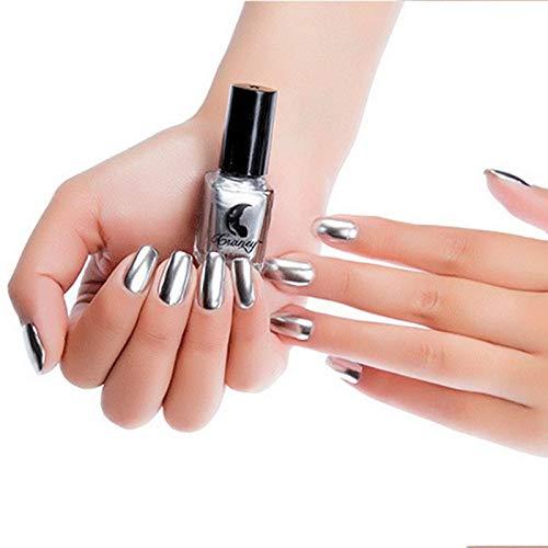 Mirror Effect Nail Polish Metallic Lacquer Nail Base Top Nails Art 1