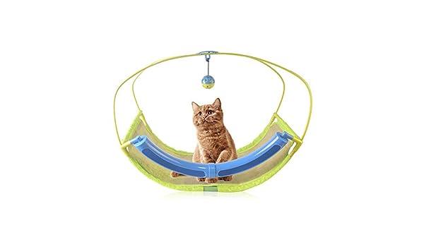Auoker Hamaca para gato, cama para mascotas hamaca con campana y ...