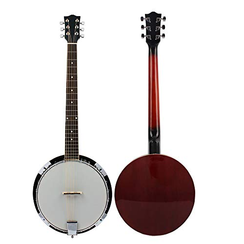 NUYI Standard 6-String Banjo Classic Style Professional Musical Instrument