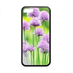 XiFu*MeiLight Purple Flower Black Phone Case for iphone 5/5sXiFu*Mei