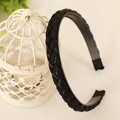 MultiKing Bandeau Hair Band Personality with wig Hair Hoop Ladies Twist Braid Headband Hair LED Jewelry