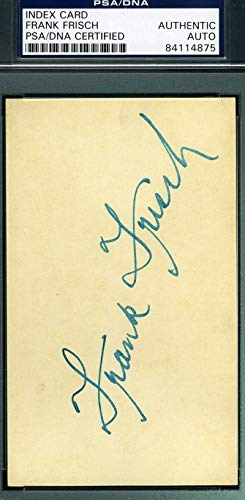 FRANKIE FRISCH PSA DNA COA Autograph 3x5 Signed Index Card