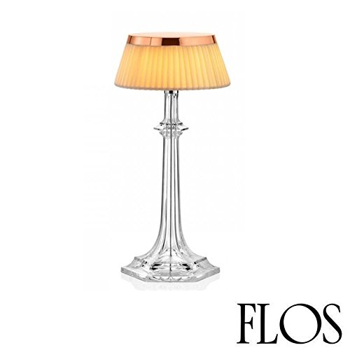 (Flos Bon Jour Versailles Small LED Table Lamp Copper Fabric F1042015 F1036007)