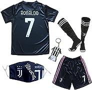 LULIDI Youth Sportswear No 7 Cristiano Ronaldo Home Kids Soccer Jersey/Shorts/Socks Set
