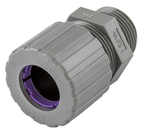 Nylon Connector Straight (Hubbell SHC1038CR Kellems Wire Management Cord Connectors, Straight Male, Nylon, 3/4
