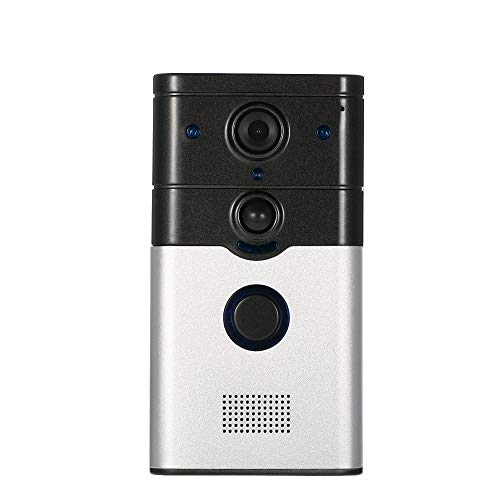 KKmoon WIFI Video Doorbell Support Phone View Record + Snapshot Infrared Night View Rainproof PIR + Motion Detection +Tamper Alarm for Door Entry Access Control
