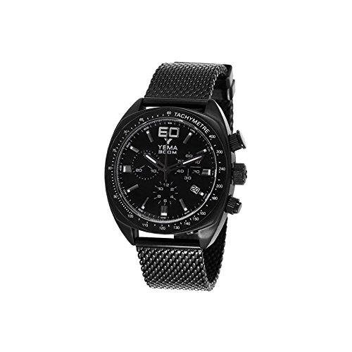 Reloj yema meangraf hombre soleillé negro y contadores negros - ymhf1451 - Idea regalo Noel - en Promo: Amazon.es: Relojes