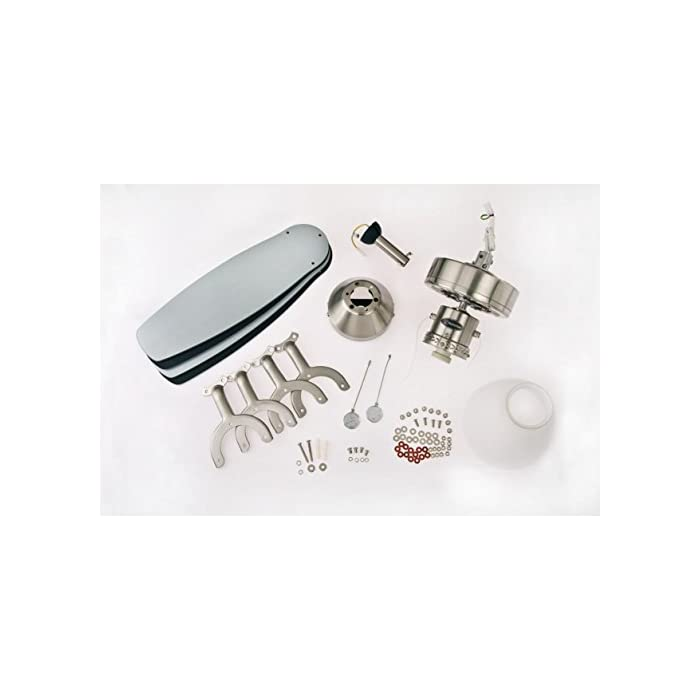 41FzDAMmz9L El ventilador de techo para interiores de 105 cm, con acabado en acero pulido y con estilo contemporáneo es ideal para habitaciones de hasta 15 metros cuadrados con techos altos estándar o inclinados. Cuatro palas reversibles disponibles en plata/negro, juego de luces con cristal esmerilado opal utiliza una bombilla base E27, máximo de 60 vatios (no incluido), usar con bombilla LED 37128 Interruptor inverso verano/invierno, mando a distancia adaptable