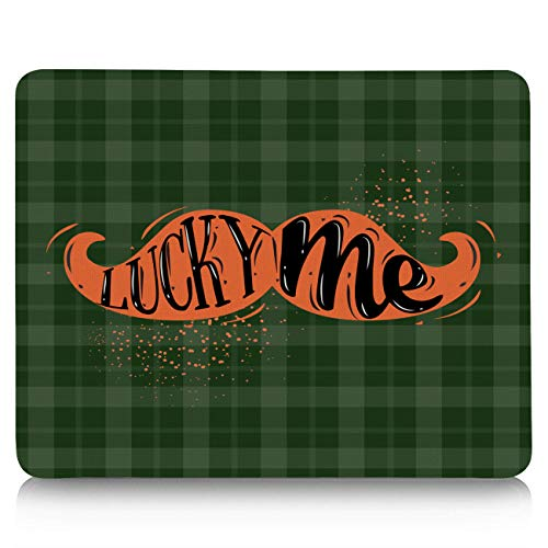 Gaming Mouse Pad, Happy St. Patrick's Day Leprechaun Beard Lucky Me Non-Slip Rubber Base Mousepad Rectangle Mouse Mat for Laptop, Computers, Office & Home -