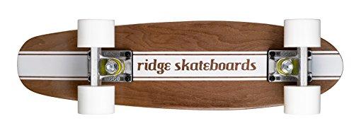 Ridge Cruiser Maple Holz Mini Number Four Skateboard, White, MPB-22-NR4