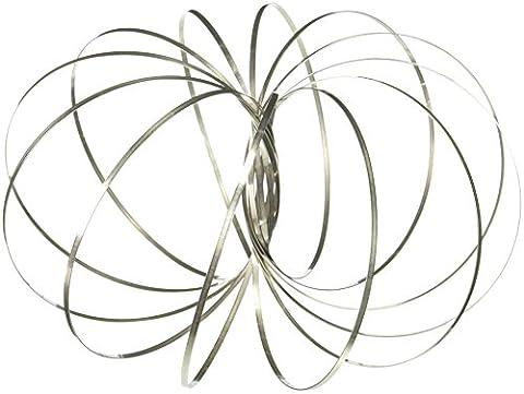 Flow Ring Kinetic Spring Toy 3D Sculpture Ring - Kinetic Metal Sculpture