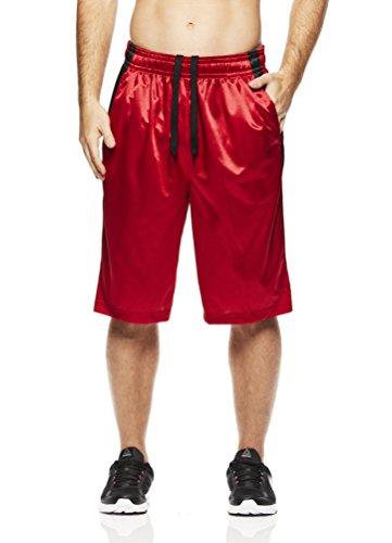 s Mesh Basketball Shorts - Workout & Gym Shorts for Men - Coast 2 Coast - Varsity Red, Small ()