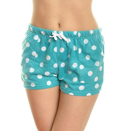 Angelina Womens Cozy Fleece Pajama Shorts Free Mystery Tank TOP