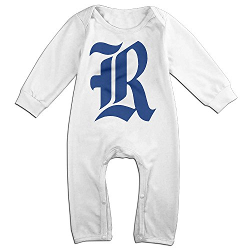 JJVAT Rice University Long Sleeve Outfits For 6-24 Months Newborn Baby Size 24 Months White