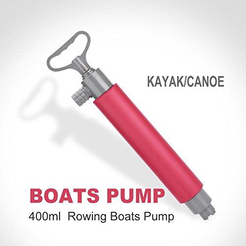 Tbest Bomba de achique Manual para Barco, Bomba de Agua de achique para Kayak, Bomba de Mano Flotante de 46 cm, balsa…