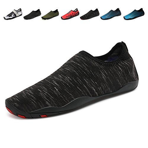 Demetory Outdoor Water Shoes Neoprene Lightweight Quick-Dry Barefoot Aque Socks For Swim, Walking, Beach