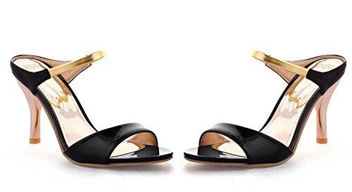 Femme Sandales Bout Noir Nouvelle On Aisun Ouvert Slip qdTqwB