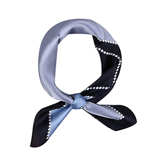 Kerchief Neck Scarf Women Square Kerchief, LITOON Neckerchief,Handkerchief (23.6X23.6 in) (Blue/Black)