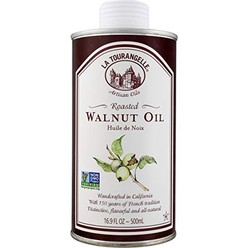 La Tourangelle Roasted Walnut Oil 16.9 Fl. Oz., All-Natural, Artisanal, Great for Salads, Grilled Fish and Meat, or Pasta