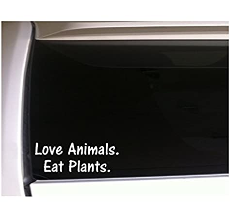 Yoonek Graphics Vegan Pride Decal Sticker for Car Window 4 x 5.5, Black Laptop and More # 952