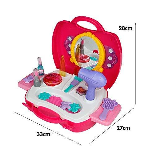 Role Play Set, Kit de maquillaje, maquillaje pretend rosa princesa regalo de Navidad para niños 3456años