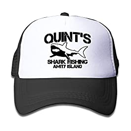 DD Decorative Quint's Shark Fishing 1 Youth Mesh Hats Boys and Girl Baseball Trucker Cap