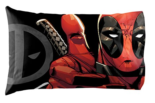 Marvel Deadpool Invasion 3 Piece Twin Sheet Set, White/Gray/Red