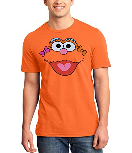 Sesame Street Zoe Face Adult T-Shirt-Large