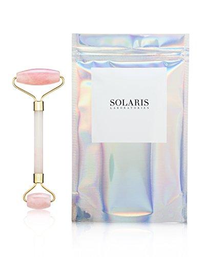 - Rose Quartz Facial Roller - Premium Quality by Solaris NY