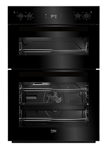 Beko BDF22300B Large Capacity Electric Built-in Fan Double Oven With LED...