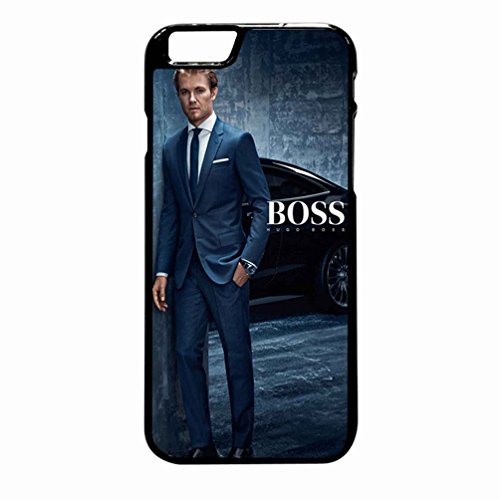 Hugo Boss Rosberg Case / Color Black Rubber / Device iPhone 6 Plus/6s (Hugo Boss Iphone 6)