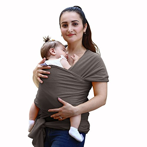 Cheap NPET Baby Wrap Carrier Original Natural Cotton Baby Slings for Newborns to 35 lbs, Soft, Comfortable, Mother's Day Gift – Gray
