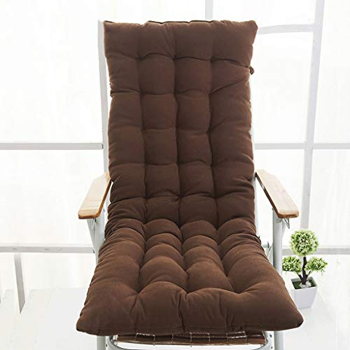Yilian Zuodian Fashion Simple Solid Color One Thickening Four Seasons Chaise Longue Cushion Rocking Chair Cushion Car Seat Universal (Color : Brown)