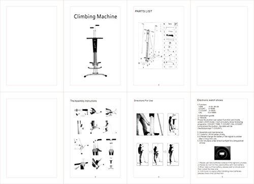 Meanch 440LBS Climber Machine Fitness Stepper Climber Exercise Equipment Vertical Climber for Home Gym Exercise Stepper Cardio Climbing System (Gray)