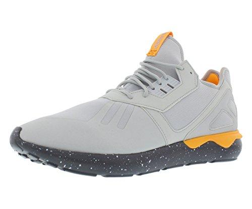 Adidas tubular Runner Moda Hombre-zapatillas de deporte Aq8388_7 - Claro Gris / onix / naranja neón Clear Grey/Onix/Neon Orange