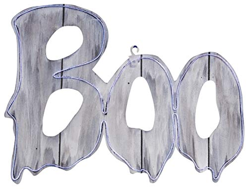 Halloween Light Up Boo Sign, 17 1/4 Inch
