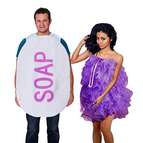 Tigerdoe Loofah and Soap Costume - 2 Pc Set - Couples Costumes - Funny Costumes - Novelty Costumes -