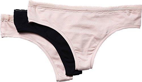 Skarlett Blue Women's Unleash 3-Pack Thong Black/Naked/Naked Underwear