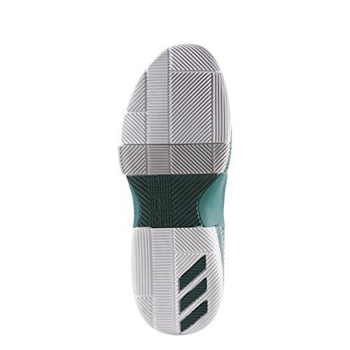 adidas Dame 3 Schuh Männer Basketball Dunkelgrün-weiß-grau