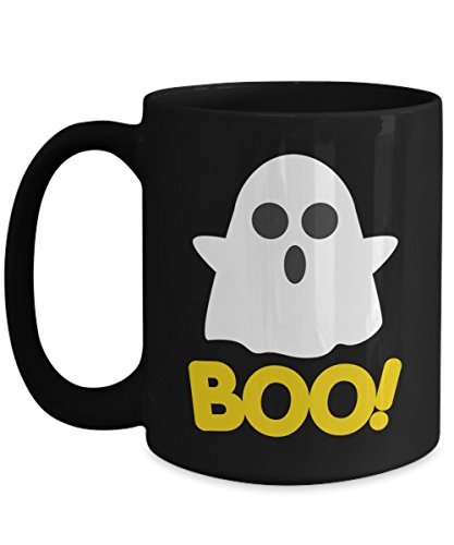 Funny Halloween Mug - Cute Ghost Saying Boo Perfect Coffee Mug For Your Halloween Party]()