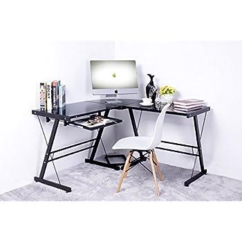 Amazon Com Merax 49 Quot L Shaped Office Home Computer Desk