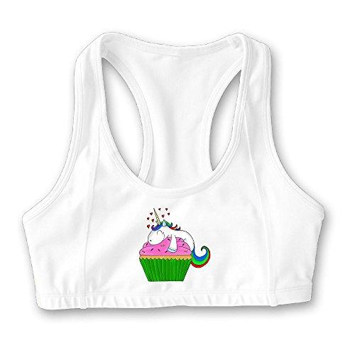 67068ef7c99a7 Elainery Cupcake Unicorn Womens Sports Bra - Customized Training ...