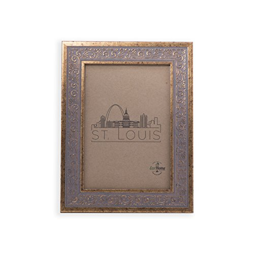 5x7 Picture Frame Ornate Antique Gold - Mount Desktop Display, Frames by EcoHome