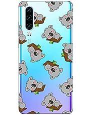 Oihxse Compatible con Huawei Y9 2019/Enjoy 9 Plus Funda Cristal Silicona TPU Suave Ultra-Delgado Protector Estuche Creativa Patrón Protector Anti-Choque Carcasa Cover(Pereza A5)