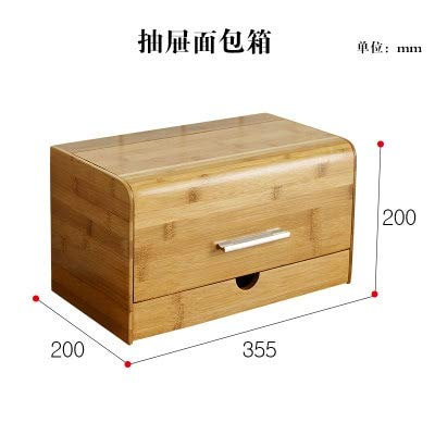 Amazon Com Kiartten Storage Box Dustproof Bread Box Bamboo Snacks