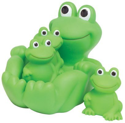 D&D Frog Family Bath Toy - Floating Fun!