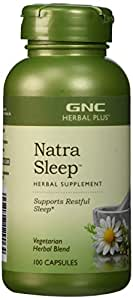 GNC Herbal Plus Natra Sleep, Vegetarian Capsules, 100 ea